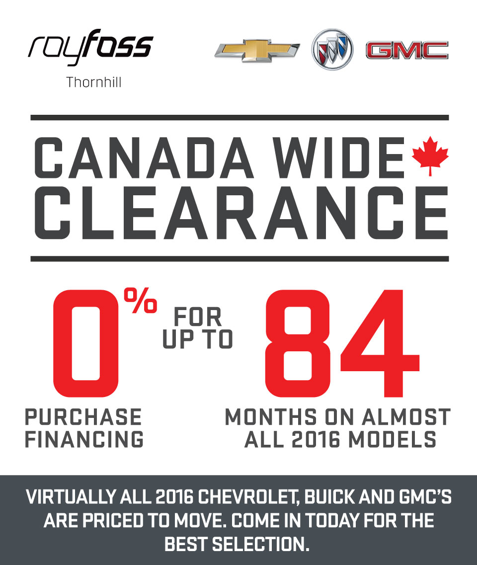 Murray S Buick Canada Wide Clearance